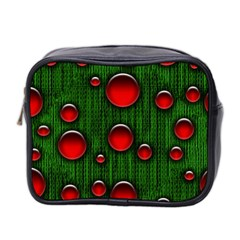 Geek Binary Digital Christmas Mini Travel Toiletry Bag (two Sides) by bloomingvinedesign