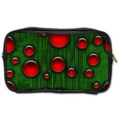 Geek Binary Digital Christmas Travel Toiletry Bag (one Side)