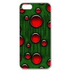 Geek Binary Digital Christmas Apple Seamless Iphone 5 Case (clear) by bloomingvinedesign