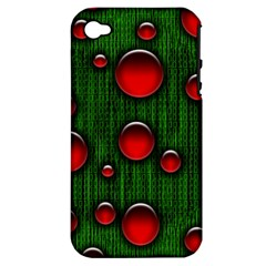 Geek Binary Digital Christmas Apple Iphone 4/4s Hardshell Case (pc+silicone) by bloomingvinedesign