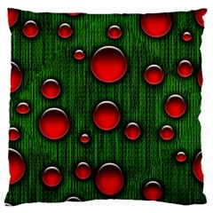 Geek Binary Digital Christmas Standard Flano Cushion Case (one Side) by bloomingvinedesign