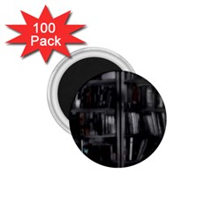 Black White Book Shelves 1 75  Button Magnet (100 Pack) by bloomingvinedesign