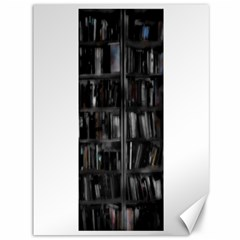 Black White Book Shelves Canvas 36  X 48  (unframed) by bloomingvinedesign