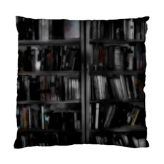 Black White Book Shelves Cushion Case (single Sided)  by bloomingvinedesign