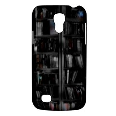 Black White Book Shelves Samsung Galaxy S4 Mini (gt I9190) Hardshell Case  by bloomingvinedesign