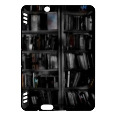 Black White Book Shelves Kindle Fire Hdx Hardshell Case