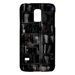 Black White Book Shelves Samsung Galaxy S5 Mini Hardshell Case  by bloomingvinedesign