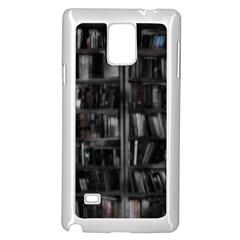 Black White Book Shelves Samsung Galaxy Note 4 Case (white)