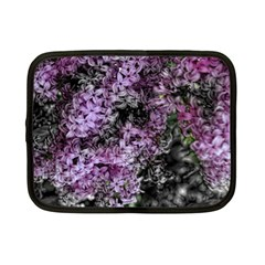 Lilacs Fade To Black And White Netbook Sleeve (small) by bloomingvinedesign