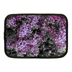 Lilacs Fade To Black And White Netbook Sleeve (medium) by bloomingvinedesign