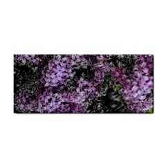 Lilacs Fade To Black And White Hand Towel by bloomingvinedesign