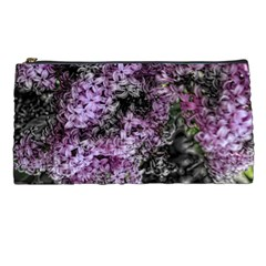 Lilacs Fade To Black And White Pencil Case