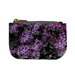 Lilacs Fade To Black And White Coin Change Purse by bloomingvinedesign