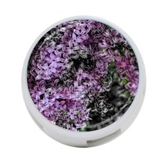 Lilacs Fade To Black And White 4 Port Usb Hub (two Sides) by bloomingvinedesign