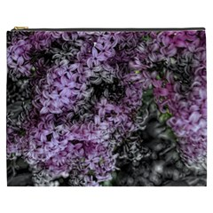 Lilacs Fade To Black And White Cosmetic Bag (xxxl) by bloomingvinedesign