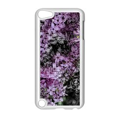 Lilacs Fade To Black And White Apple Ipod Touch 5 Case (white) by bloomingvinedesign