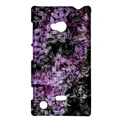 Lilacs Fade To Black And White Nokia Lumia 720 Hardshell Case by bloomingvinedesign