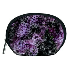 Lilacs Fade To Black And White Accessory Pouch (medium) by bloomingvinedesign