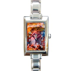Astral Dreamtime Rectangular Italian Charm Watch by icarusismartdesigns