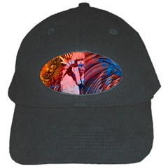 Astral Dreamtime Black Baseball Cap by icarusismartdesigns