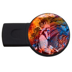 Astral Dreamtime 2gb Usb Flash Drive (round) by icarusismartdesigns