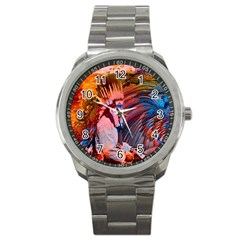 Astral Dreamtime Sport Metal Watch by icarusismartdesigns