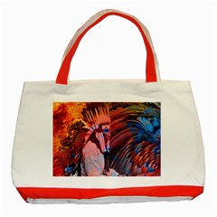 Astral Dreamtime Classic Tote Bag (red) by icarusismartdesigns