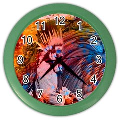 Astral Dreamtime Wall Clock (color) by icarusismartdesigns