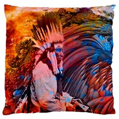 Astral Dreamtime Large Cushion Case (two Sided)  by icarusismartdesigns