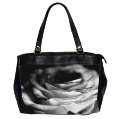 Light Black And White Rose Oversize Office Handbag (two Sides) by bloomingvinedesign