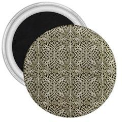 Silver Intricate Arabesque Pattern 3  Button Magnet by dflcprints