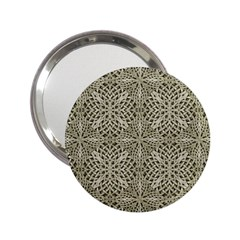 Silver Intricate Arabesque Pattern Handbag Mirror (2 25 ) by dflcprints