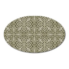 Silver Intricate Arabesque Pattern Magnet (oval) by dflcprints