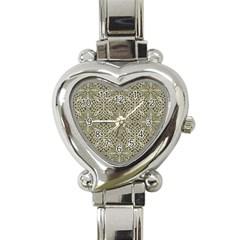 Silver Intricate Arabesque Pattern Heart Italian Charm Watch  by dflcprints