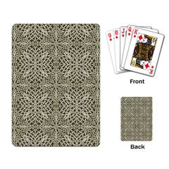 Silver Intricate Arabesque Pattern Playing Cards Single Design by dflcprints