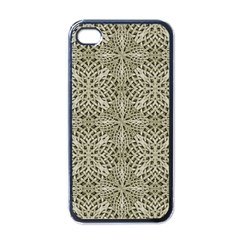 Silver Intricate Arabesque Pattern Apple Iphone 4 Case (black) by dflcprints