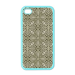 Silver Intricate Arabesque Pattern Apple Iphone 4 Case (color) by dflcprints