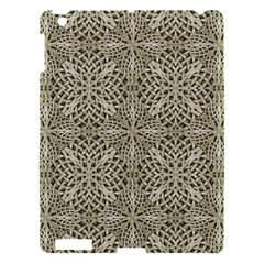 Silver Intricate Arabesque Pattern Apple Ipad 3/4 Hardshell Case by dflcprints