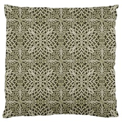 Silver Intricate Arabesque Pattern Large Cushion Case (two Sided)  by dflcprints