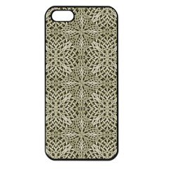Silver Intricate Arabesque Pattern Apple Iphone 5 Seamless Case (black) by dflcprints