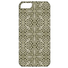 Silver Intricate Arabesque Pattern Apple Iphone 5 Classic Hardshell Case by dflcprints