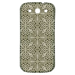 Silver Intricate Arabesque Pattern Samsung Galaxy S3 S Iii Classic Hardshell Back Case by dflcprints
