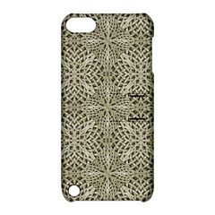 Silver Intricate Arabesque Pattern Apple Ipod Touch 5 Hardshell Case With Stand by dflcprints