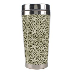 Silver Intricate Arabesque Pattern Stainless Steel Travel Tumbler by dflcprints