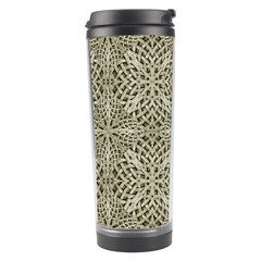 Silver Intricate Arabesque Pattern Travel Tumbler by dflcprints