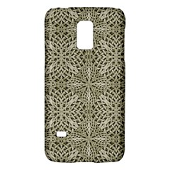 Silver Intricate Arabesque Pattern Samsung Galaxy S5 Mini Hardshell Case
