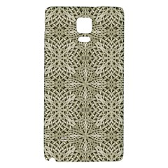 Silver Intricate Arabesque Pattern Samsung Note 4 Hardshell Back Case by dflcprints