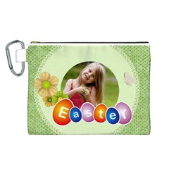 Easter By Easter   Canvas Cosmetic Bag (large)   Cddro0fxg7bb   Www Artscow Com Front