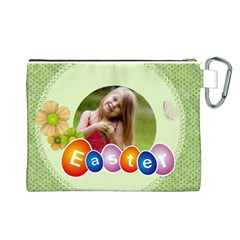Easter By Easter   Canvas Cosmetic Bag (large)   Cddro0fxg7bb   Www Artscow Com Back