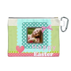 Easter By Easter   Canvas Cosmetic Bag (large)   Ls62eyajg0n2   Www Artscow Com Back